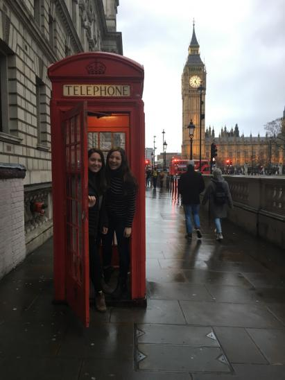 Sara with another Dartmouth '18: what's not to love about London?
