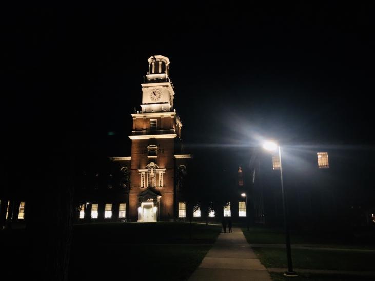 Dartmouth at night