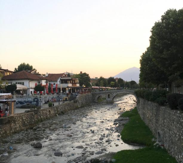 Dukofest Prizren sunset festival bridge river Kosovo