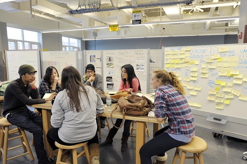 A photo of a Design Thinking Class
