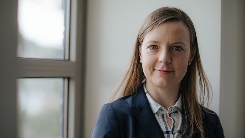 a photo of professor Katherine Mirica