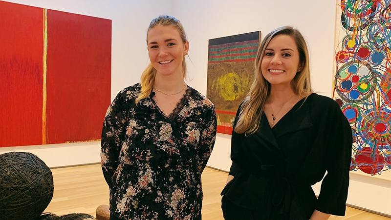 A photo of Campus Engagement Coordinator Isadora Italia and Jules Wheaton '19
