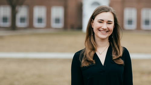 """Grace Anderson '20 says she has always loved research. """"It's like a puzzle, where you have to pull lots of different strands of information together."""""""