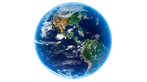 the Earth from a distance