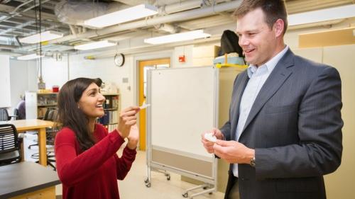 Professor Douglas Van Citters and Nivedita (Nivi) Nagaraj '16