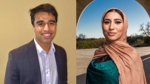 Soham Basu '20 and Ameena Razzaque '21