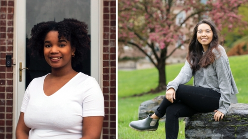 Jasmine Butler '21, left, and Gabriel Canfield '21 were named 2020 Udall Scholars, recognizing their leadership potential and their commitment to careers in the environment, Native health care, or tribal policy.
