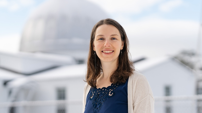 Elisabeth Newton, an assistant professor of physics and astronomy, has led a team that discovered a new exoplanet.