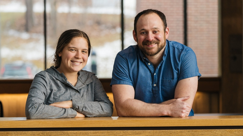 Shannon Sartain '21 and Research Assistant Professor David Lutz