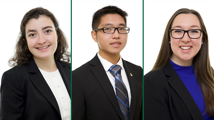 Delia Friel '20, Danny Li '19, Colleen O'Connor '19, to study for a year in Beijing.