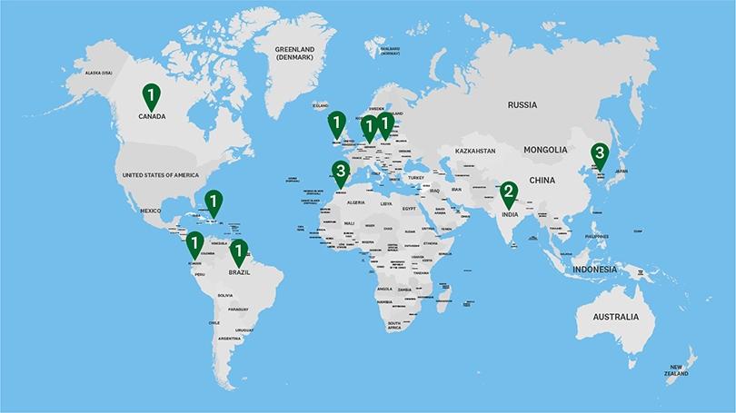 fullbright world map