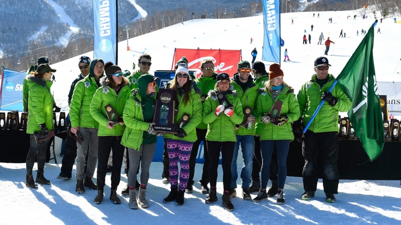 Dartmouth ski teams with trophy
