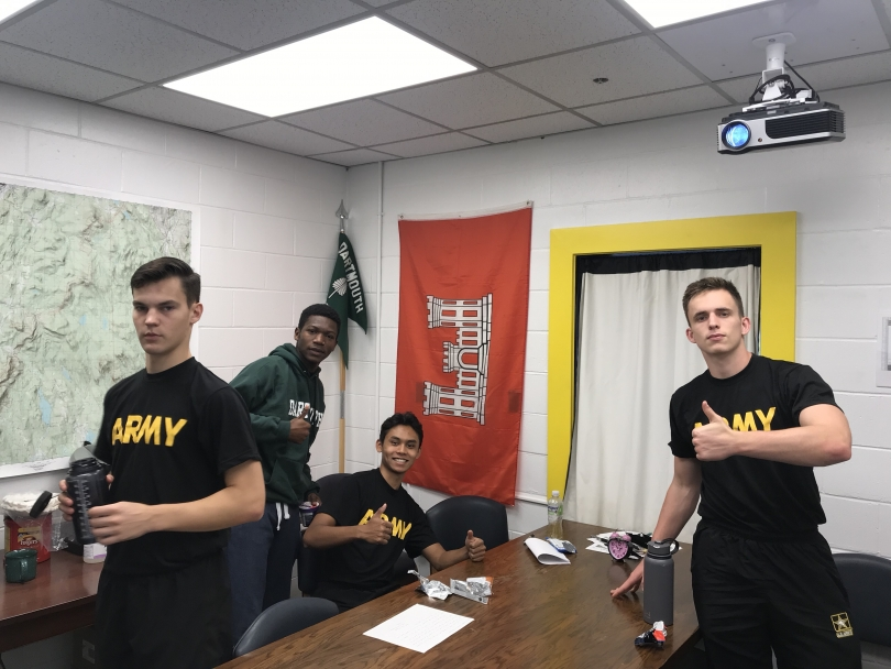 Some '23s at the Military Science Class!