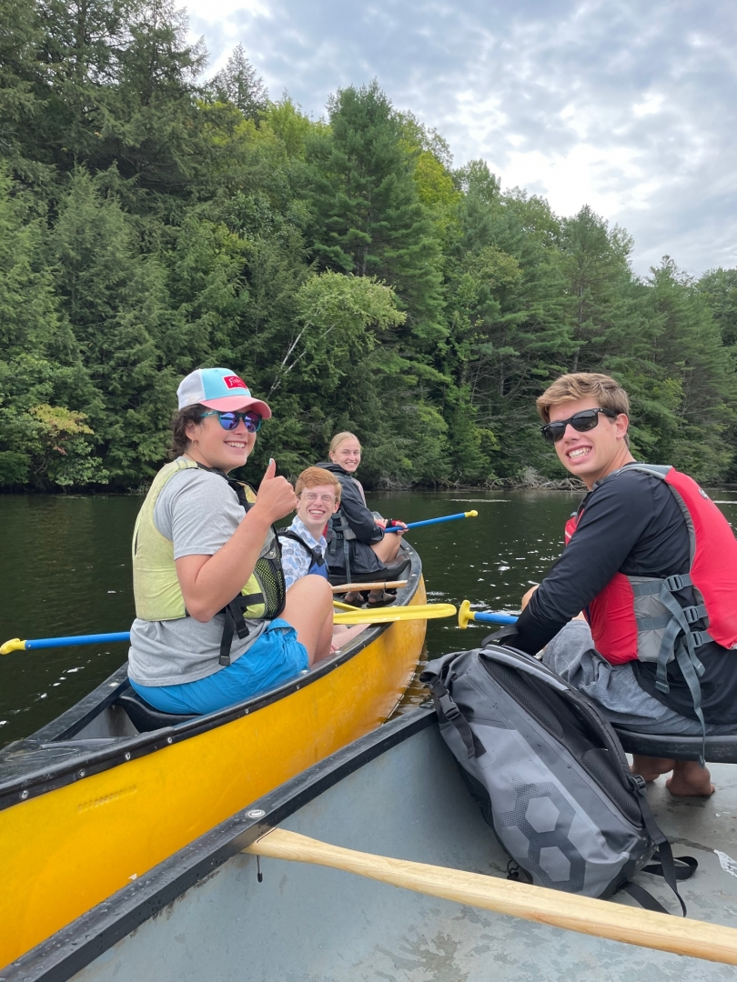 Canoeing on First-Year Trips
