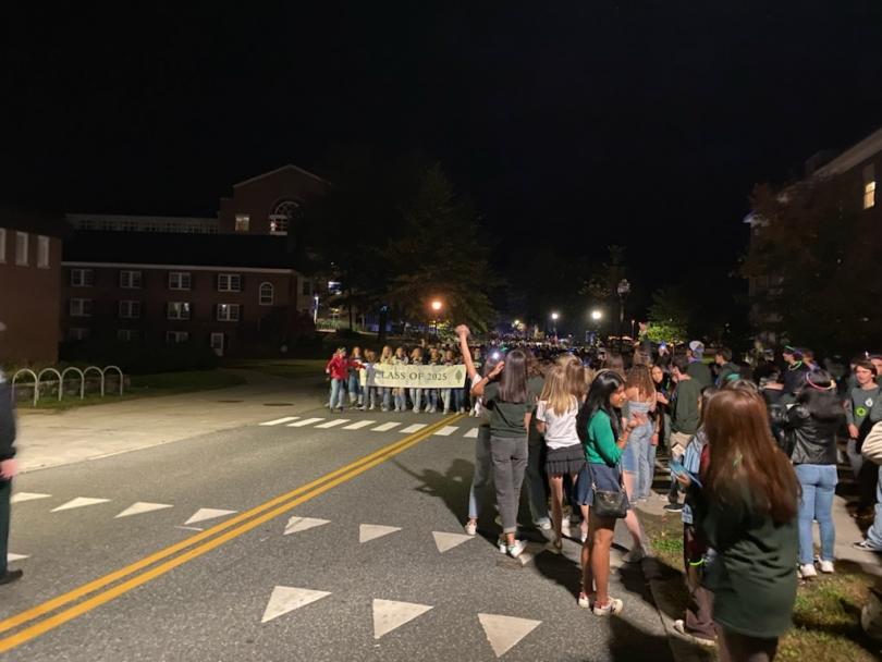 The parade for the bonfire