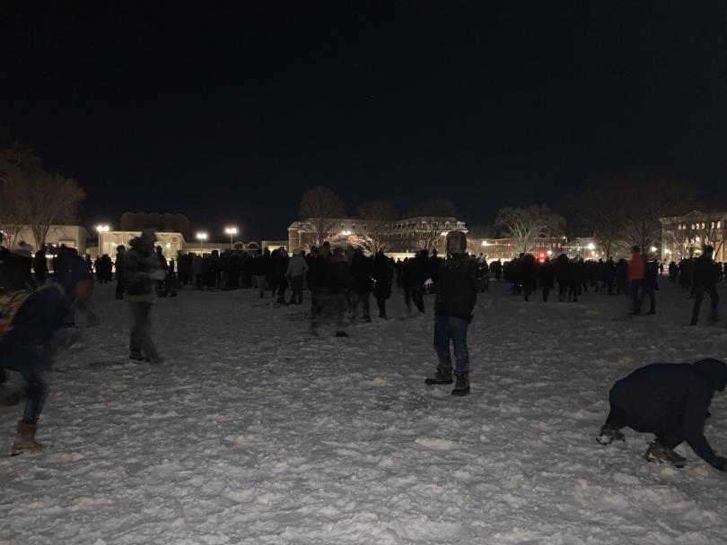 Dartmouth's Snowball Fight