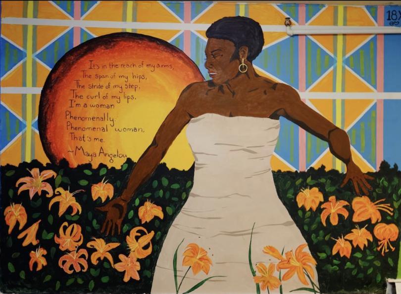 Theta mural Maya Angelou