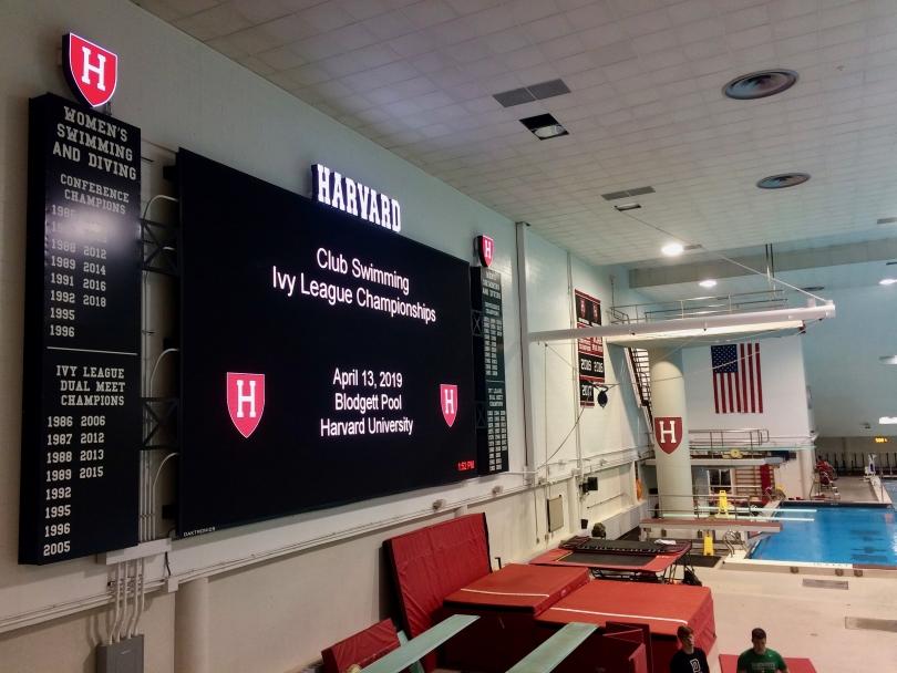 Harvard's pool scoreboard