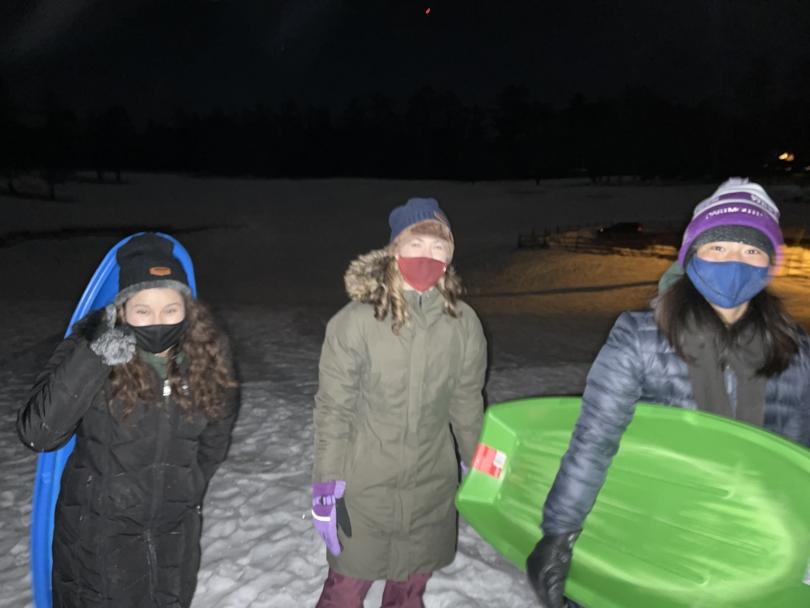 sydney wuu night sledding