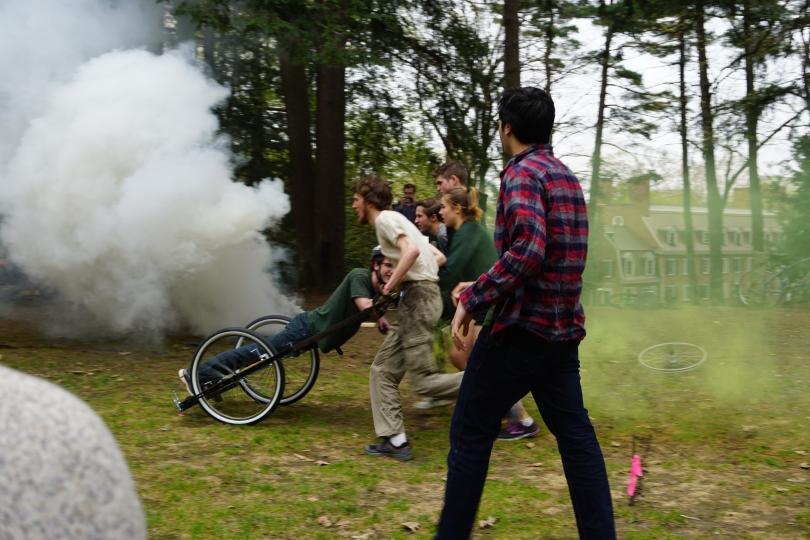 Chariot Race Colored Smoke