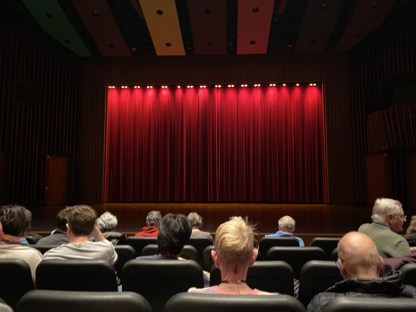 The stage in Spaulding for the movie
