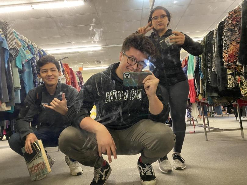 Thrift shop selfie!