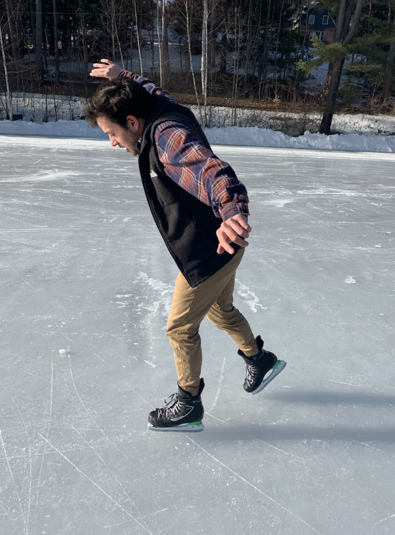 Skating on Occum Pond Ellis
