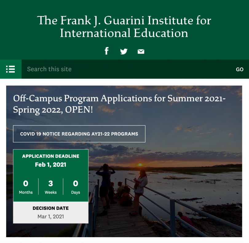 Guarini Institute Homepage