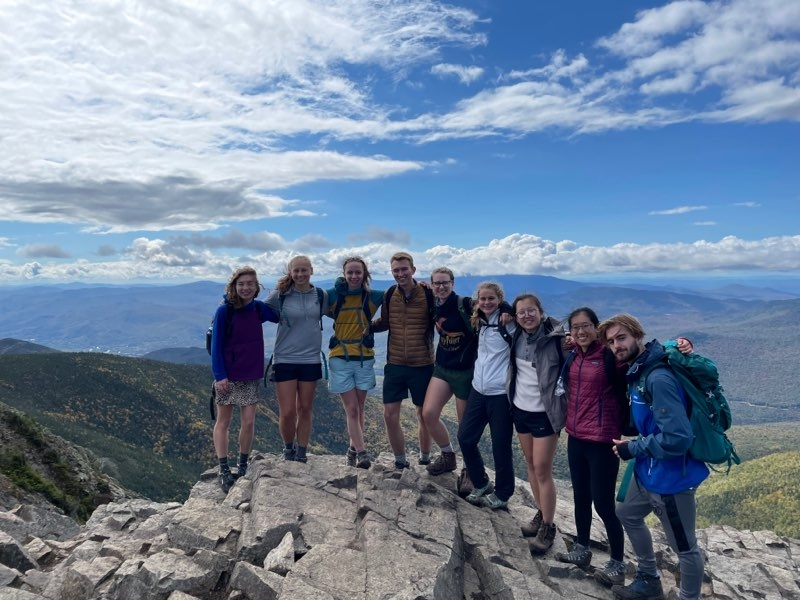 An awesome Dartmouth Outing Club hike!