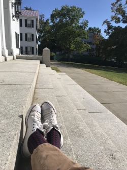 Another Great Place to Read is in Front of Dartmouth Hall