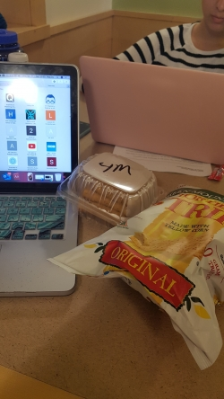late night snacks at my computer