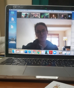 An online Zoom class session
