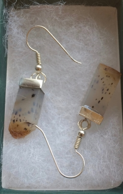 Earrings made in the jewelry studio