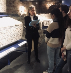 Class on symbology in the necropolis!