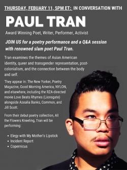 Paul Tran Poster