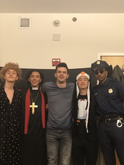 A picture of my friends and I on Halloween!