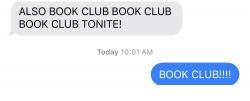 Book Club reminder