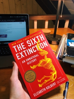 """The cover of """"The Sixth Extinction"""""""
