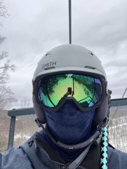 A selfie I took while on the ski lift.