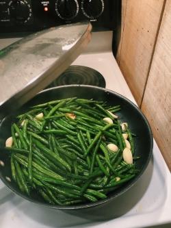 My green beans for dinner.