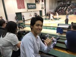 Azariah '23 at basketball game