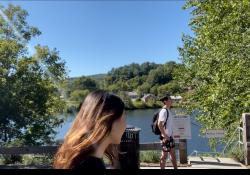 Walking at River