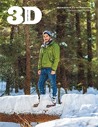 A photo of the cover of the November 2018 3D magazine