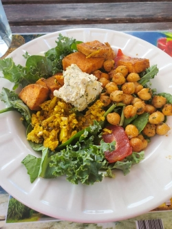 A chickpea Kale Salad my oldest Sister made