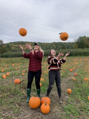 Throwing pumpkins