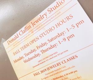 photo of Donald claflin jewelry studio hours