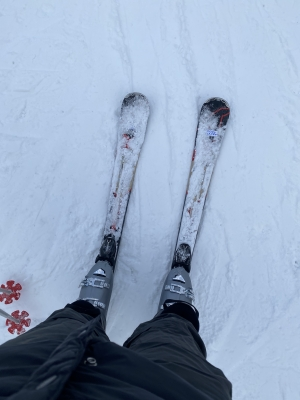 Picture of Gabriel's skis