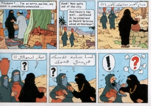 Tintin cartoon strip