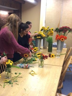 North Park flower arranging event