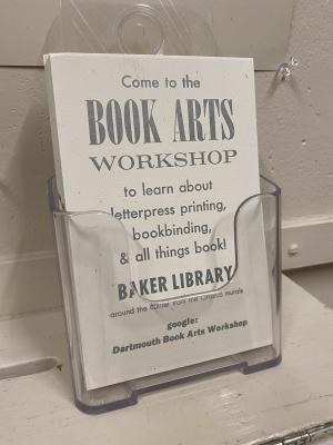 Book Arts Advertisement